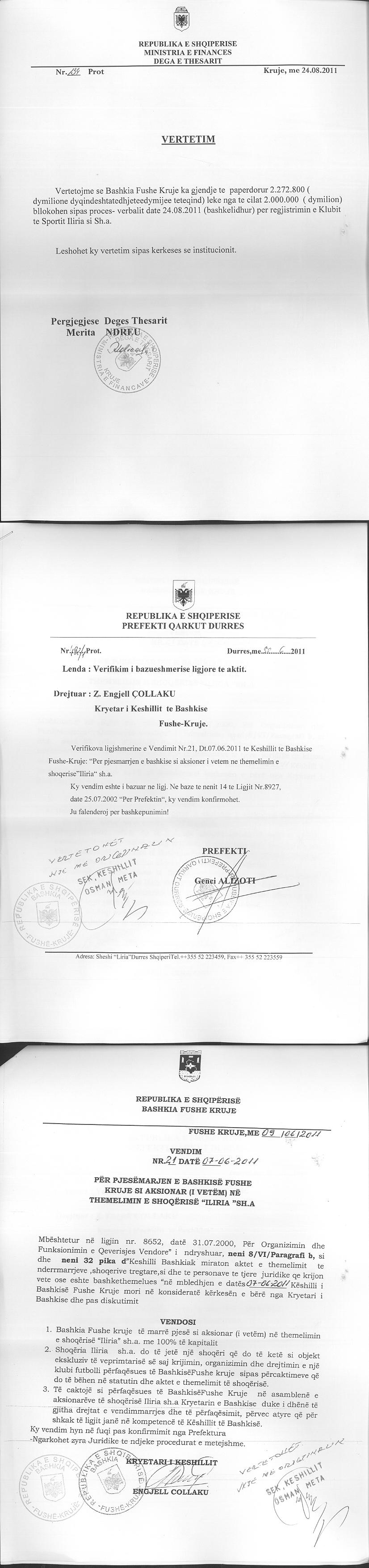 EXTRACT FORM OF A REGISTERED BUSINESS